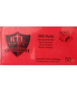 RTL Firearms RtL Ammunition 380 Auto FMJ RNFP 100 GR