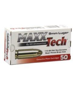 RTL Firearms ammunition Maxx Tech 9mm Luger