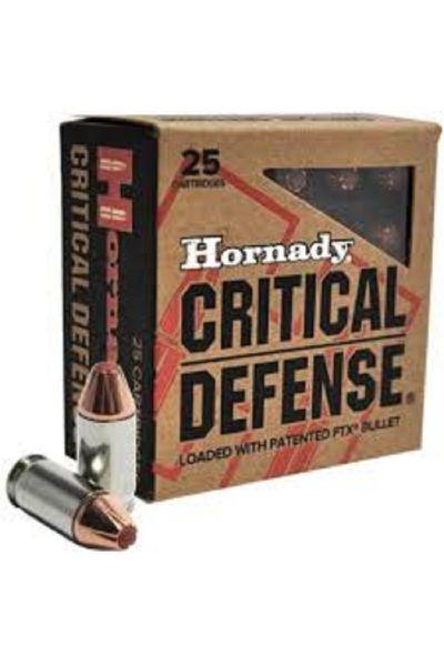 RTL Firearms Ammunition Hornady Critical Defense 380 Auto